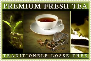 logo van losse thee onder merknaam Premium Fresh Tea